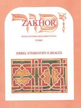 Zakhor-VI-2003-Ebrei-stereotipi-e-realta